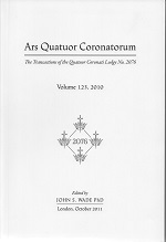 Ars Quatuor Coronatorum, volume 123 – John S. Wade (editor) (2011)